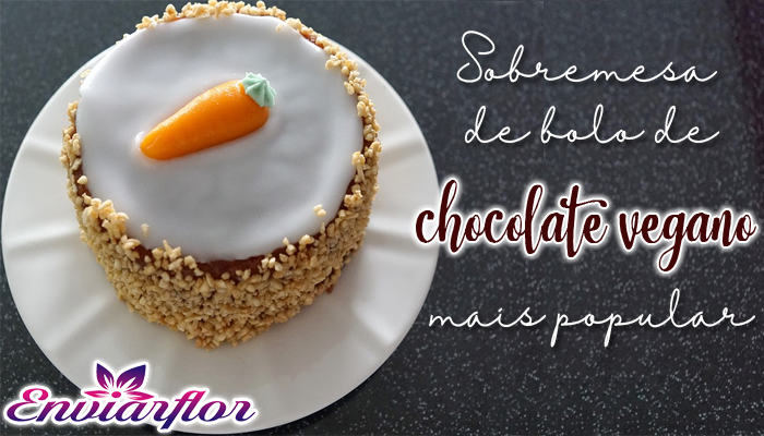 Sobremesa de bolo de chocolate vegano mais popular