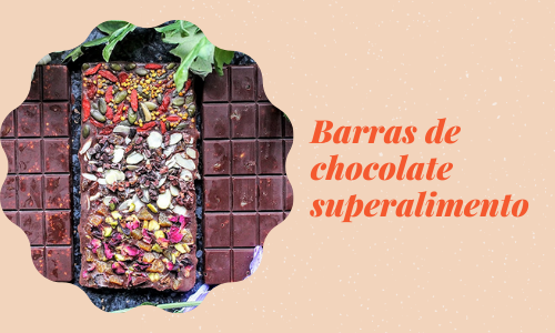 Barras de chocolate superalimento